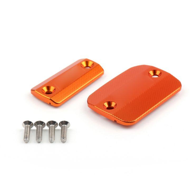 Mad Hornets - Front Brake Clutch Reservoir Covers Caps KTM 690 DUKE (2014-2015) Orange, $34.99 (http://www.madhornets.com/front-brake-clutch-reservoir-covers-caps-ktm-690-duke-2014-2015-orange/)