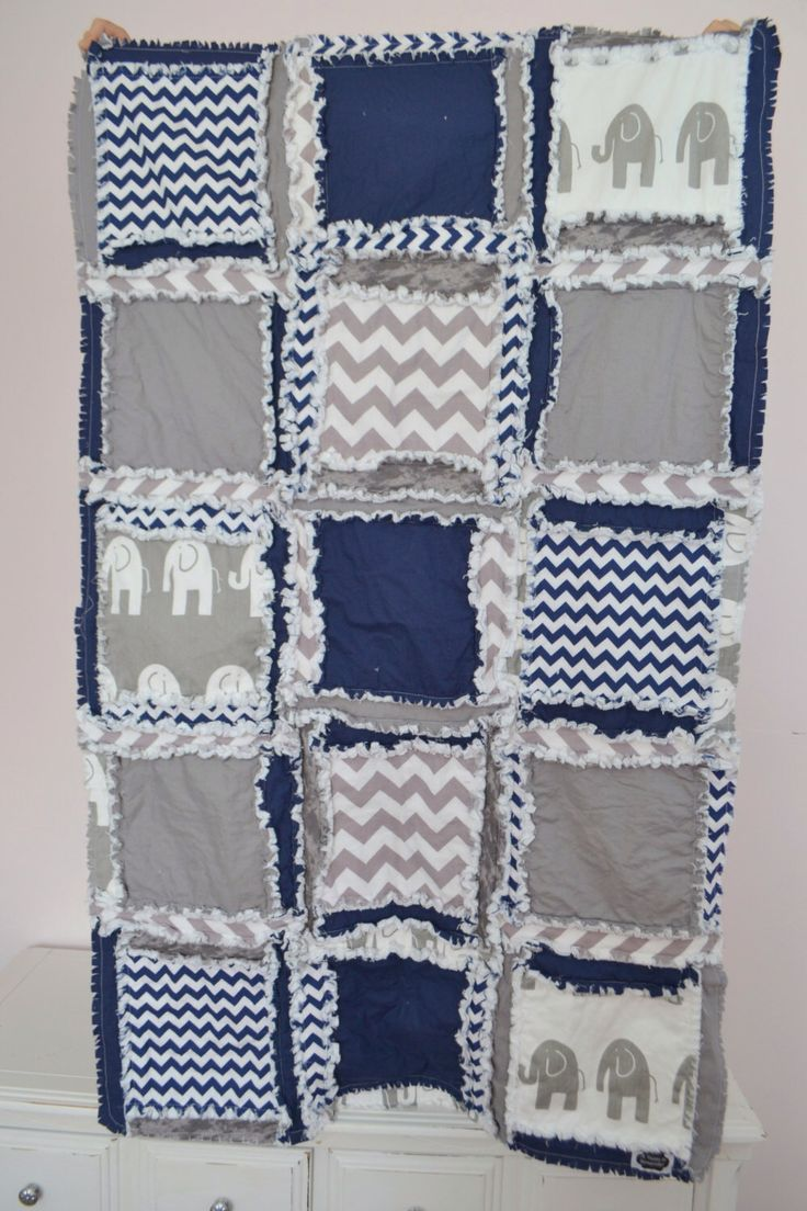 Elephant Baby Bedding, Gray Navy Blue, Crib Quilt Size for Baby Boy Crib Bedding, Made to Order by avisiontoremember on Etsy https://www.etsy.com/listing/189460939/elephant-baby-bedding-gray-navy-blue