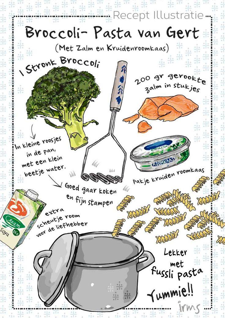 Pasta met broccoli en zalm een heerlijk makkelijk en snel gerecht voor elke dag! Broccoli is een van de gezondste groente en zou je elke week moeten eten. Met dit recept is dat heel eenvoudig. Ook kinderen zullen dit heel lekker vinden. Probeer het uit! De mini poster van dit recept is gratis te downloaden op mijn blog.