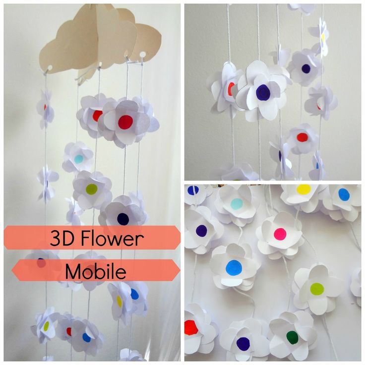 Little Treasures: Easy as D-I-Y: 3D Paper Flower Mobile