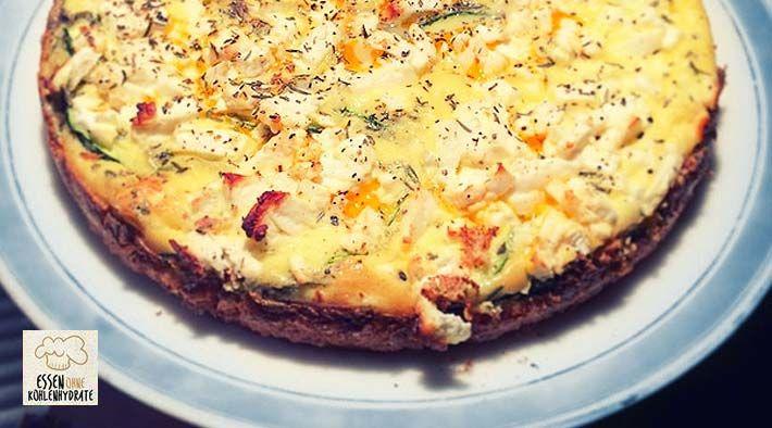 Low Carb Rezept für eine Low-Carb Zucchini-Quark-Quiche. Wenig Kohlenhydrate und…