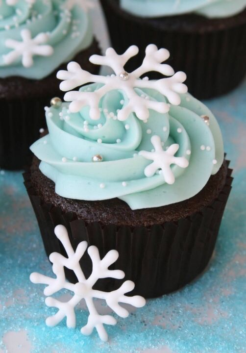 sweet bakery.snow cupcakes.