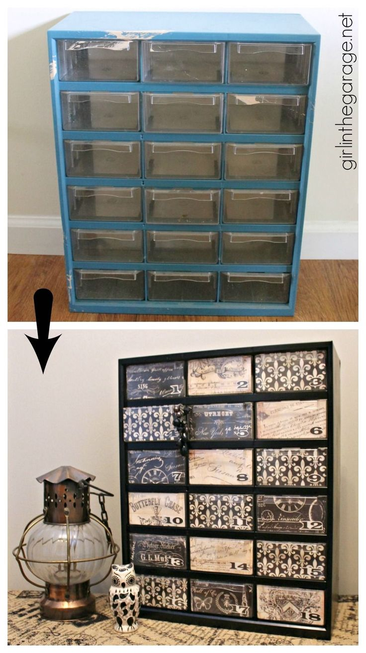 Storage Organizer Makeover - Trash to Treasure - Girl in the Garage