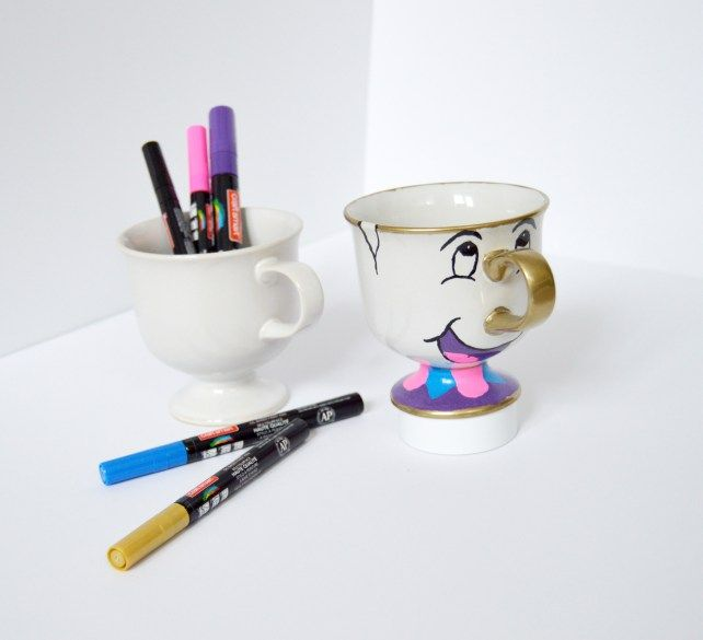 DIY Beauty and the Beast Mug - Chip