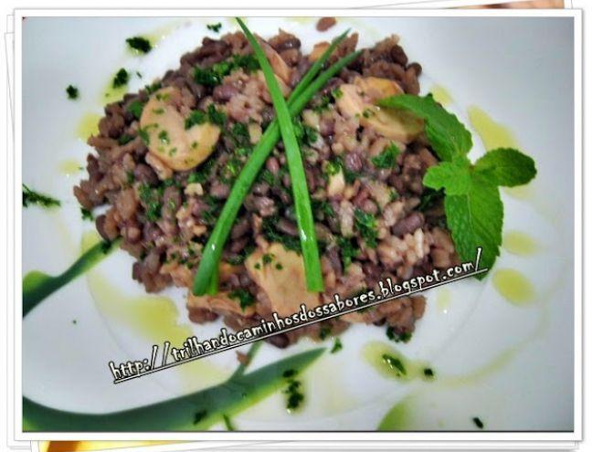 arroz integral com feijão azuki