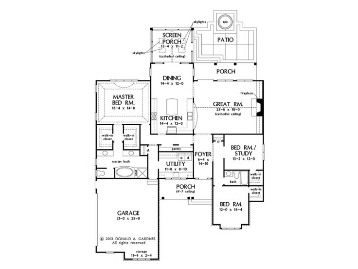 It 39 s all about the kitchen with house plan hwepl77127 from for House plans with separate kitchen