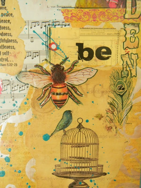 ≗ The Bee's Reverie ≗ bee collage