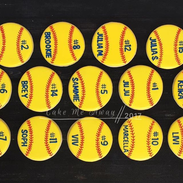 I just loooove this personalized softball set!  These are for the SASsy Divas team party today.  #cakemeaway #cakemeawayfresno #softballcookies #personalizedcookies #cookies #sugarcookies #customcookies #royalicingcookies #royalicing #cookiestyle #cookieart #cookiedecorator #cookiedecorating #cookiesof#instacookies #bakedwithlove #handmadewithlove #justforyou