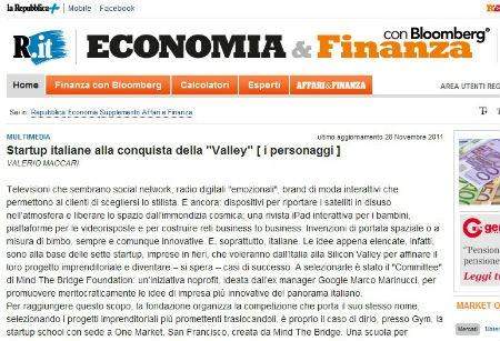 NextStyler featured on la Repubblica Economia & Finanza