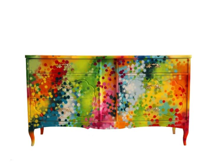 SARAH's FURNITURE and more by Canadian graffiti artist Dudeman  http://www.design-fair.com/sarahs-furniture-and-more-by-canadian-graffiti-artist-dudeman/  #Art #PopArt #ModernStyle #Graffiti #LivingRooms #Bedrooms #Furniture #PaintedFurniture #ChestsofDrawers #Dressers #Commodes #Armoires #Cupboards #Sideboards #Cabinets #Buffets #Nightstands #BedsideTables #Dudeman #Dudemanart #NicholasSinclair #Canada #Canadian
