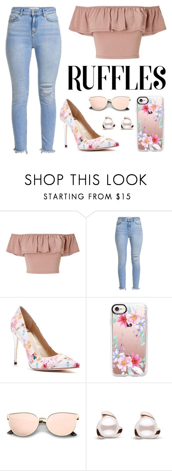 """""""Untitled #112"""" by the-idiot-next-door ❤ liked on Polyvore featuring Miss Selfridge, GUESS by Marciano and Casetify"""
