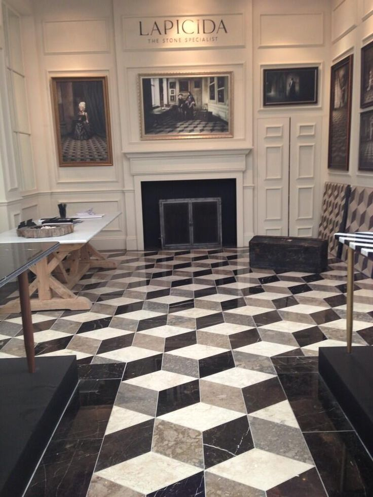 Bespoke lapicida reclaimed geometric marble floor at for Floor decoration designs