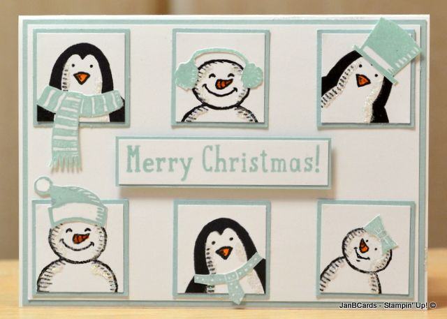 One of my favourite cards using the characters from the Stampin' Up! Snow Place Stamp Set.