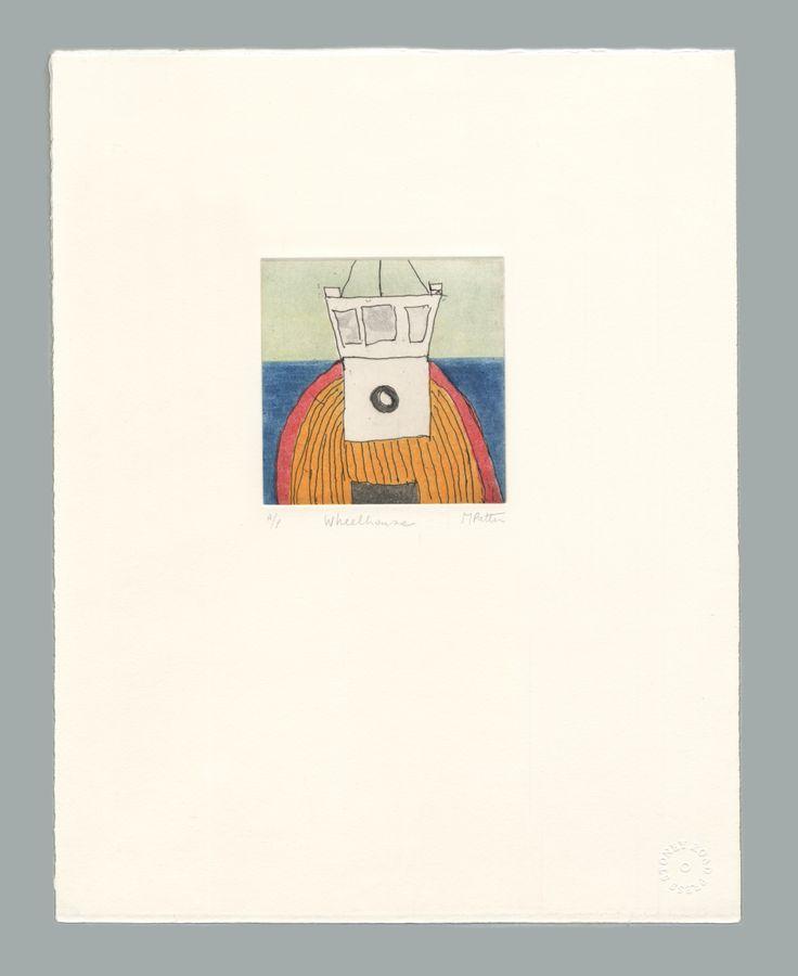 'Wheelhouse' by Michael Patten, 2016 Intaglio print on Zerkall 350 gsm paper. Sheet size 33 x 42.5cm