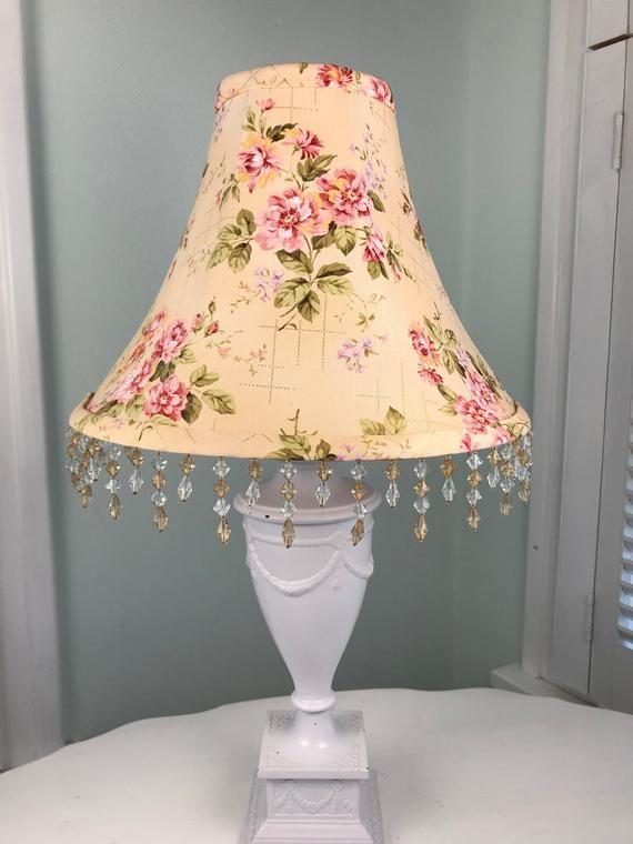 Shabby Chic Lamp Shade Floral Lamp Shade Peach Lamp Shade