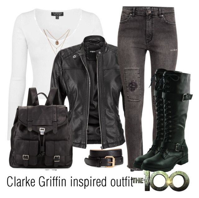 """""""Clarke Griffin inspired outfit/The100"""" by tvdsarahmichele ❤ liked on Polyvore featuring Topshop, maurices, H&M and Proenza Schouler"""