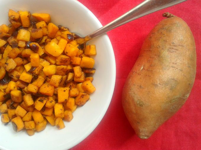 Sweet Potato Hash (Patate Dolci Spadellate) - One Fool Pie
