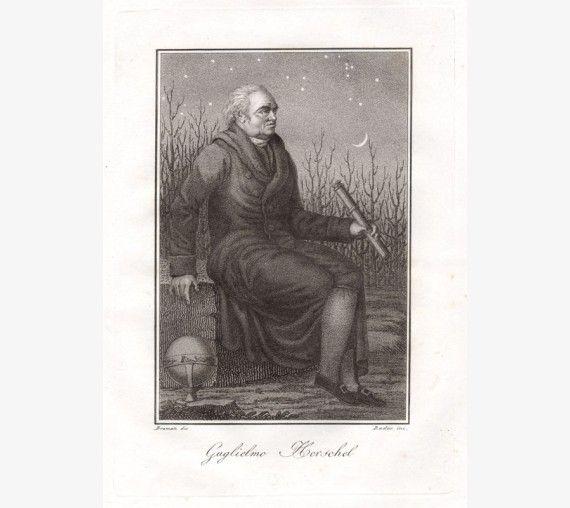 Herschel portrait engraving print