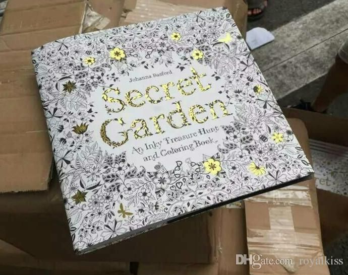 2015 Secret Garden An Inky Treasure Hunt And Coloring Book Adult Children Relax Graffiti Painting 100pcs Lot