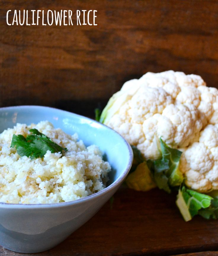 Cauliflower Rice - This cauliflower rice comes together in minutes, tastes great and is a fantastic way to get some veggies!