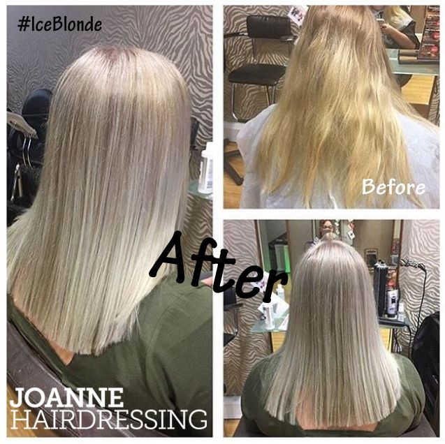 **BLONDE** Stunning #iceblonde creation by Zoe | Joanne Hairdressing | Poole | Dorset UK #LOreal #SmartBond #NewYearNewDo #RealClients