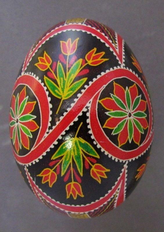 Goose Pysanka, Real Ukrainian Easter Egg, Pysanka, Geometric Design, Flower N10 #Eggs
