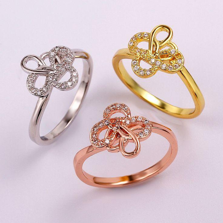 Желтое Золото Розовое Золото Pt950 Платина Покрыли 18 К золотые Кольца Для Женщин Цветочные Формы Круглой Бриллиантовой Огранки циркон Кольцо