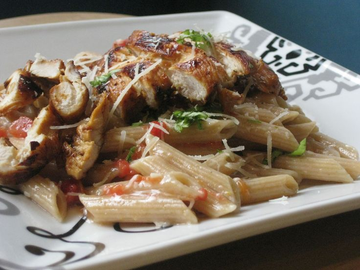 Kind of like an Italian version of a stir-fry, this tasty dish mixes cubed, boneless chicken and penne pasta with red and green capsicums, garlic, tomatoes, oregano and basil for an easy weeknight dinner.
