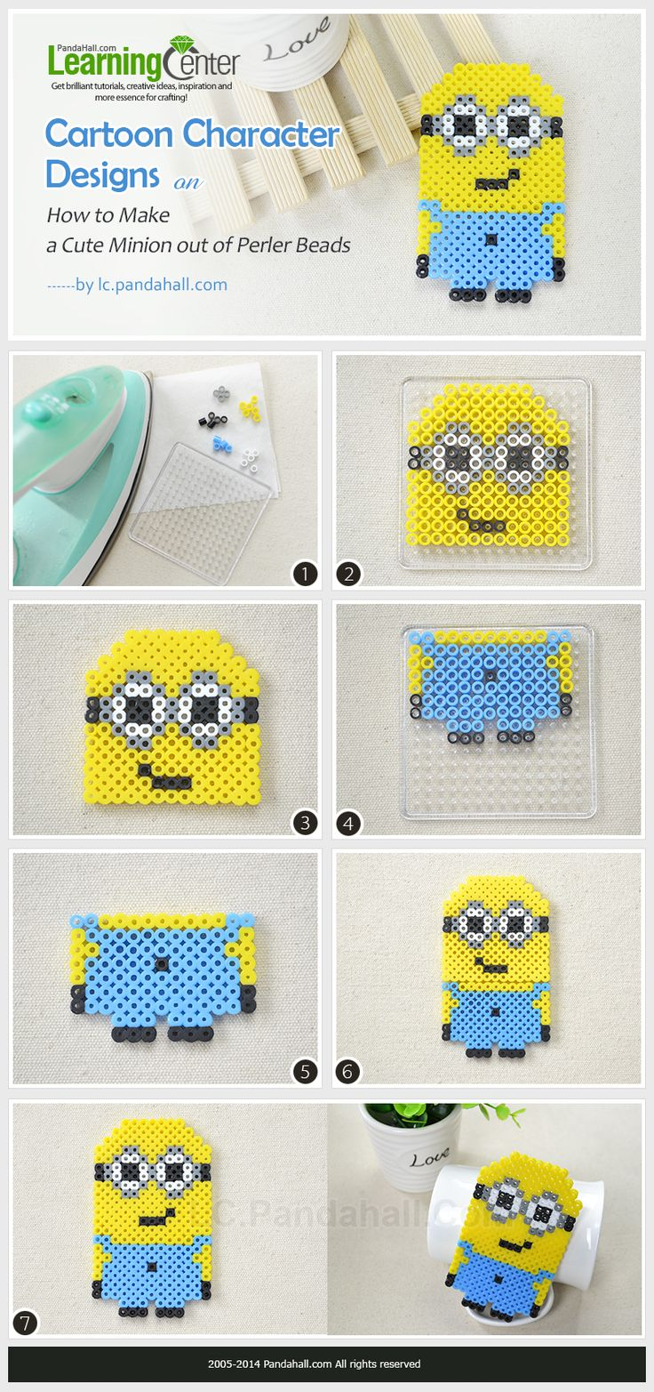 How to Make a Cute Minion out of Perler Beads