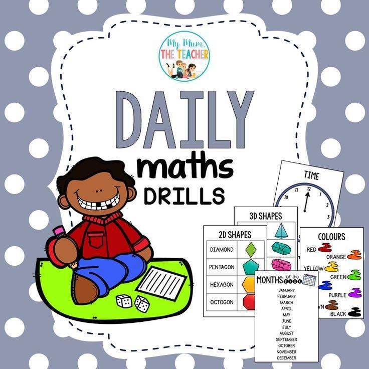 My Mum, the Teacher - Daily Maths Drills