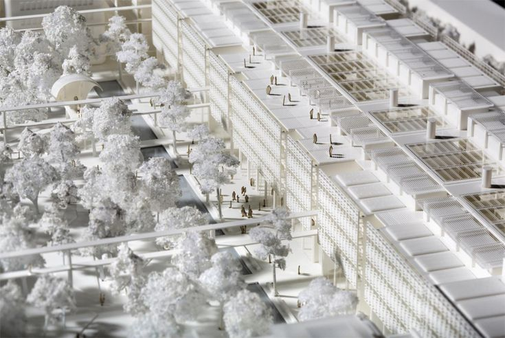 architectural model | renzo piano: ENS cachan paris-saclay campus project