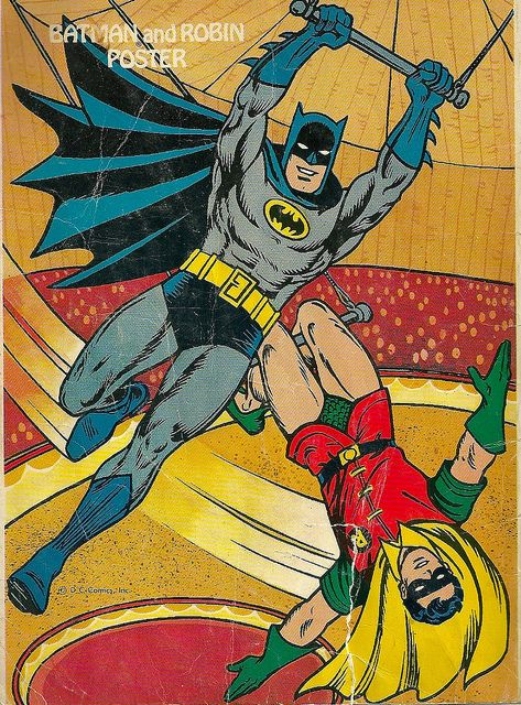 The Batman and Robin: had this coloring book as kids at our grandma's house