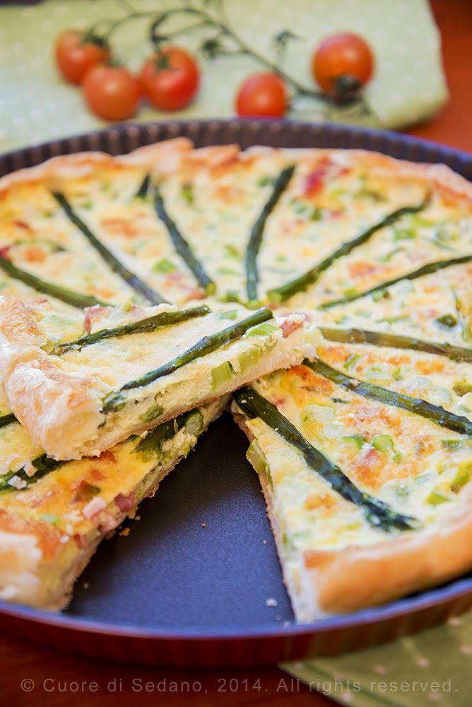 Quiche salata agli asparagi e pancetta affumicata