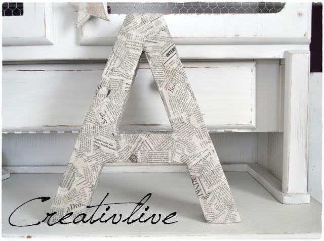 creativLIVE: DIY Deko-Buchstabe