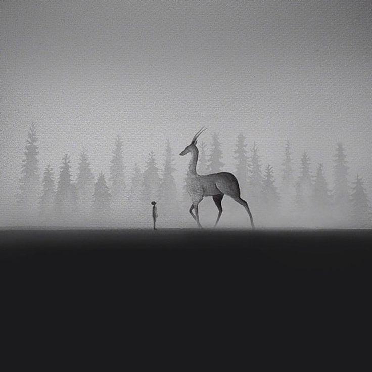 Elicia Edijanto est une jeune artiste talentueuse qui a eu la bonne idée de réunir animaux et humains dans des aquarelles pleines de poésie. Son travail en noir et blanc est aussi inspirant que touchant, on peut y voir des enfants au plus près d'animaux. On vous l...