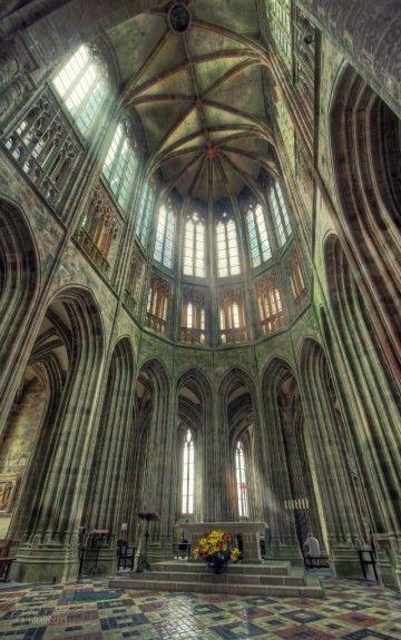 Choeur de l'abbaye du Mont St Michel