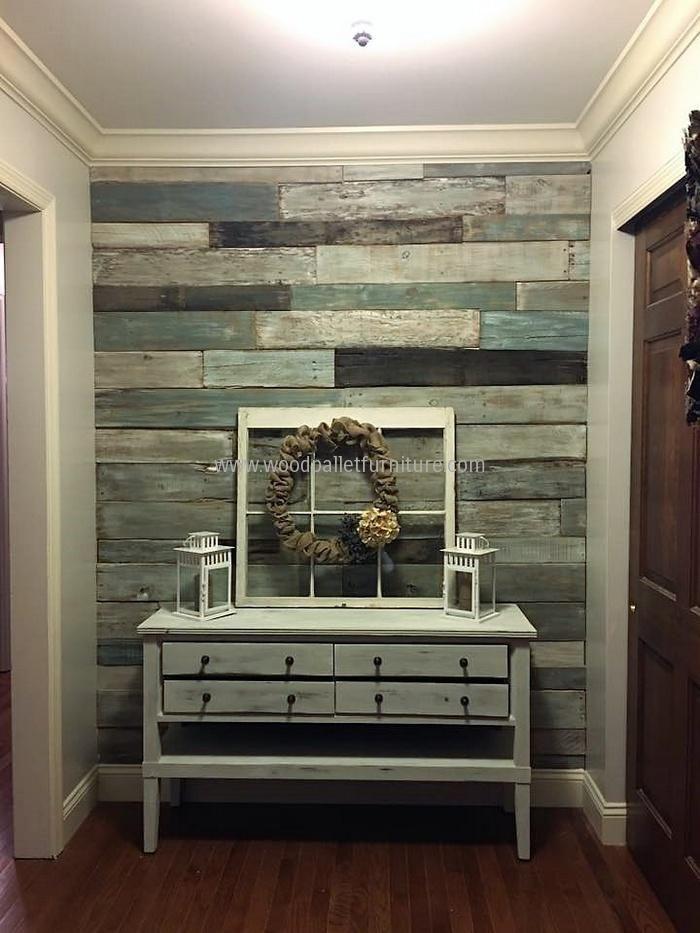 wood pallet wall art idea