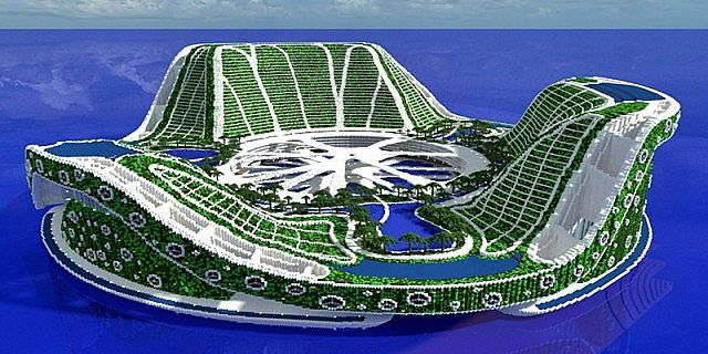 Lilypad City | Eco Floating City | Minecraft Building Inc