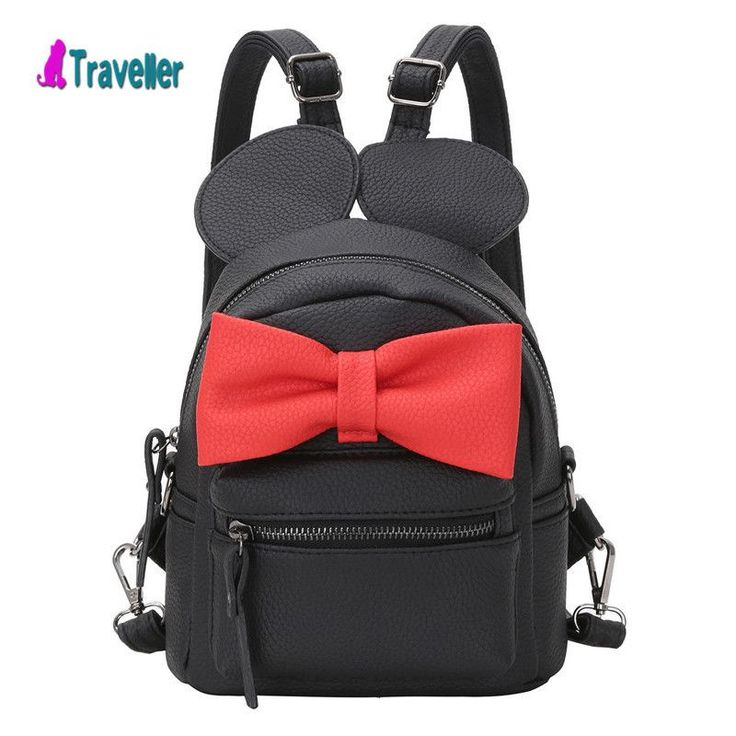 leather book bags for college 2016 fashion cool bookbag For Teenagers Mickey ears sweet bow College Wind mini backpack Rucksack  #backpack #bag #fashion #kids #highschool #shoulderbags #L09582 #Happy4Sales #YLEY #WomenWallets #bagshop #handbags