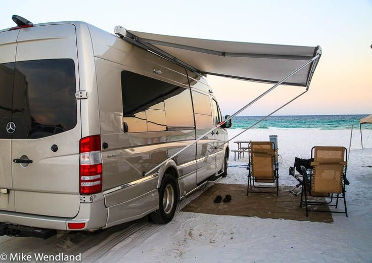 Camping in Destin, Florida..., right on the beach. # ...