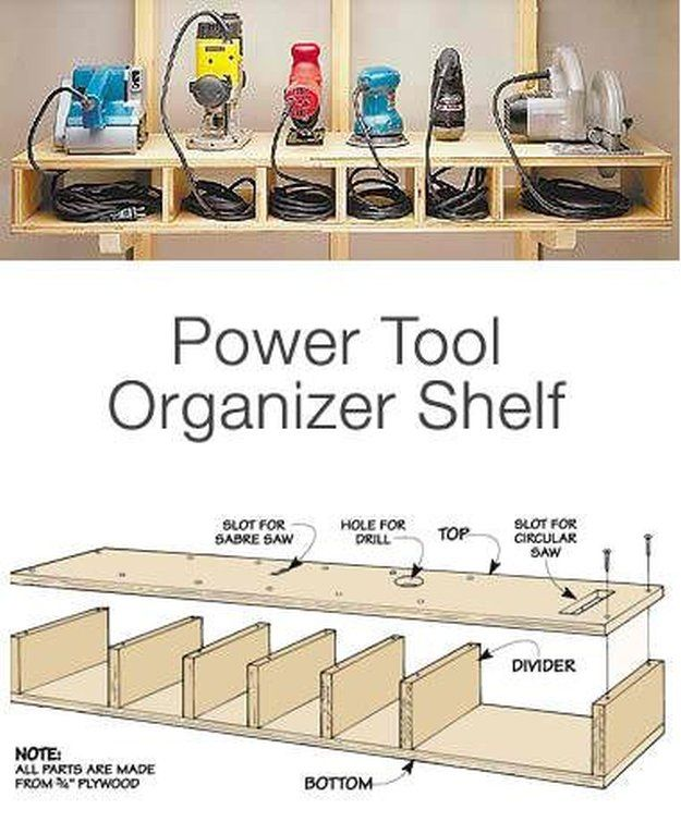 Power Tool Organizer | DIY Tool Kits | Tool Organizer Ideas You Can Do at Home see more at http://diyready.com/diy-tool-kits-tool-organizer-ideas-you-can-do-at-home