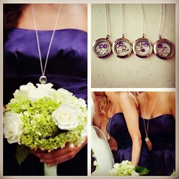 Origami Owl Lockets Make the Perfect Bridesmaid Gift ...super cute and you pick the colors and charms @ Www.kellysampson.origamiowl.com