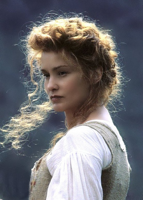 I love Jessica Lange's look from the movie Rob Roy.  Her hair is so beautiful in this photo.  (Still of Jessica Lange in Rob Roy).