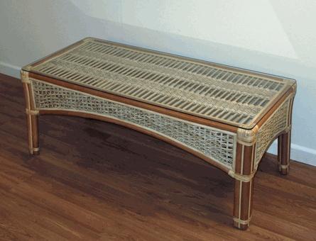 rattan coffee table with glass top via rattan table tropical - Rattan Coffee Table