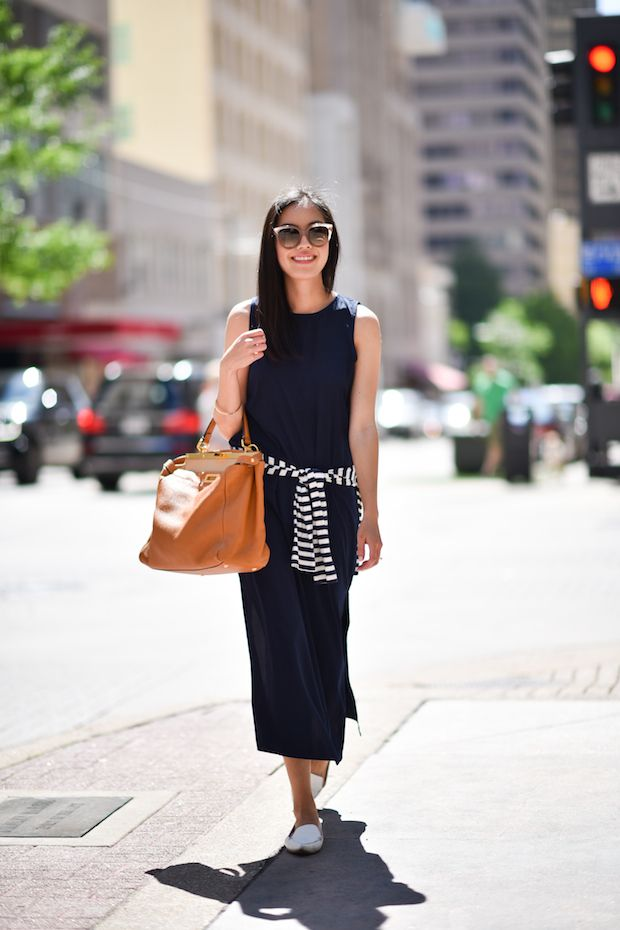 9to5chic navy jcrew dress 2