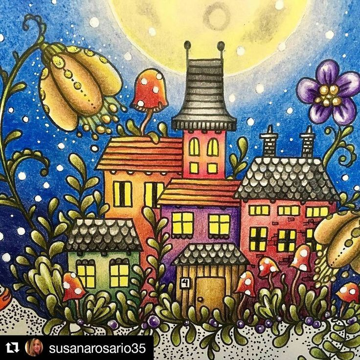 Uauuu nossa flor sempre arrasando nos Coloridos !!! 😍❤  #Repost @susanarosario35 (@get_repost)  ・・・  Tiny! 🏡 #grupoflordemaio #divasdasartes #arte_e_colorir #hannakarlzon #daydrems #pollychromos #colormanic