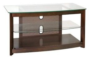 Poundex 3-Tier Glass TV Stand