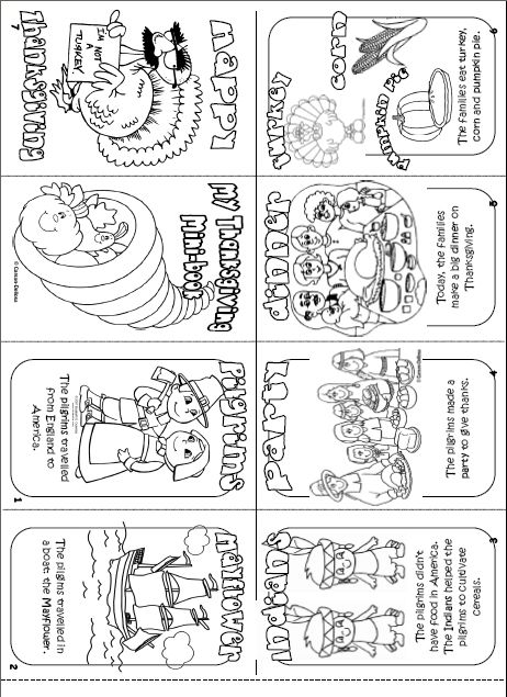 Thanksgiving mini book printable holiday fun in the classroom pin