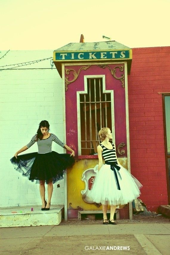 I have been drooling over these tulle skirts for far too long. (And, I am addicted to stripes.)    I need to make these outfits.