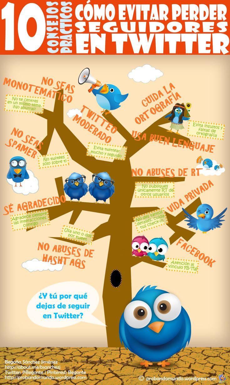 Cómo evitar perder seguidores en Twitter #infografia #infographic #socialmedia